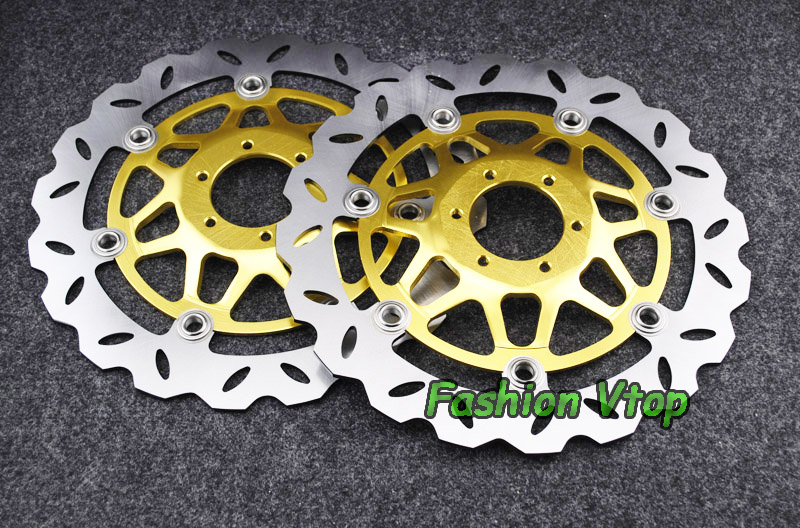 Motorcycle Front Brake Disc Rotors For CB400 SF Superfour 92-97  Universel motorcycle parts front brake pads discs kit for honda cb400sf cb400 cb 400 sf superfour 92 95 cbr250 mc22 90 94 vfr750 88 97