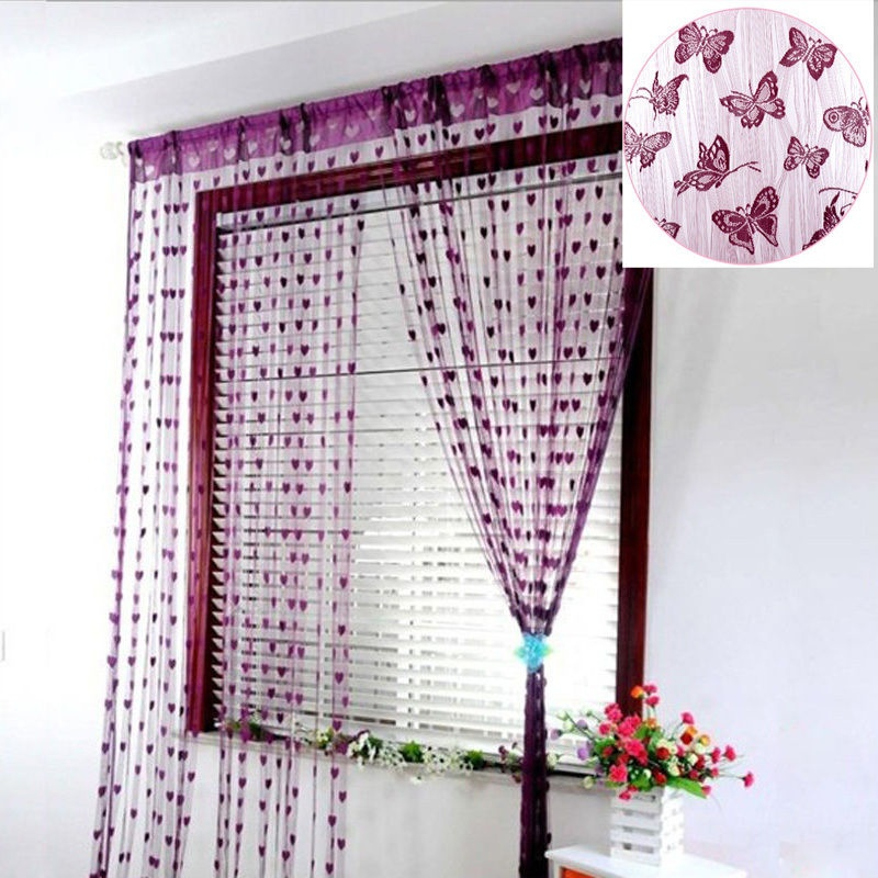 21m String Curtain Tassel Window Door Decor Panel Divider Yarn String Curtain Living Room Bedroom Kitchen (5)