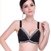 Vrouwelijke Ondergoed kleine borst Push Up Bh minimizer diepe vs 5 cm dikke Gewatteerde brasserie lace bras voor vrouwen pushup beha
