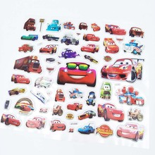 6pcs Lightning Mcqueen disney bubble stickers Cartoon Childrens Birthday Gift ToyChild Reward party favors DIY Cute 3D Stereo P