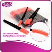 50 pcs/Bag 4 styles High quality Plastic Silicone Soft Mini Brush Eyelash Extension Brushes Makeup Tools length 105mm