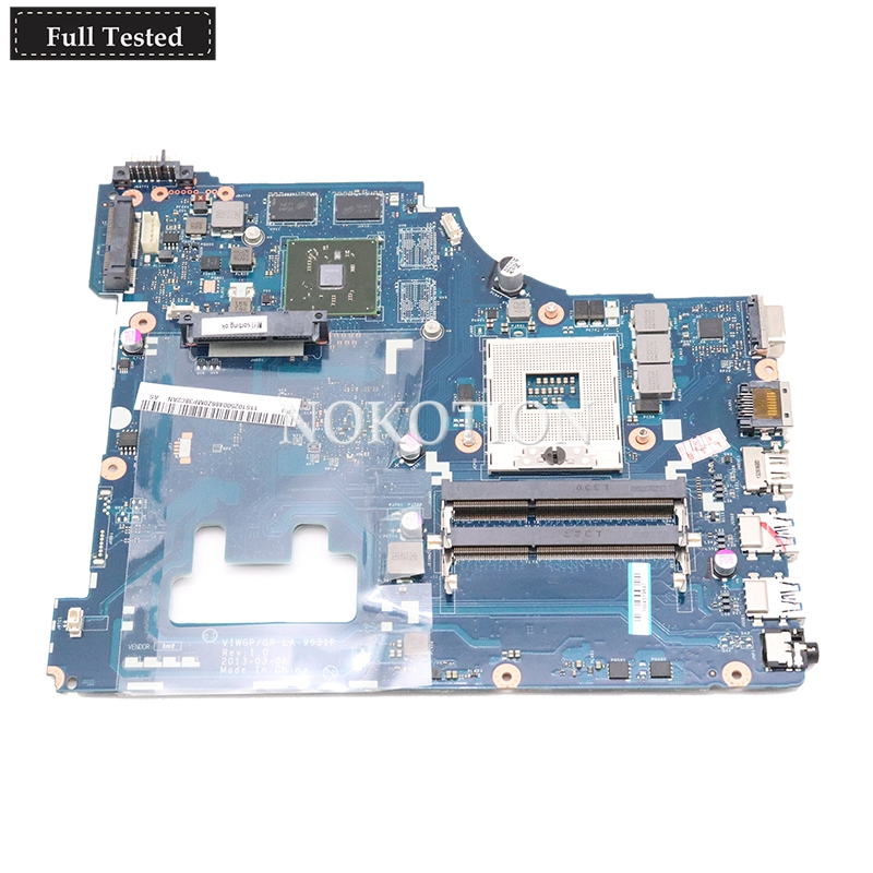 NOKOTION NEW For lenovo ideapad G500 15.6 inch laptop motherboard VIWGP GR LA-9631P HM76 DDR3HD 8570M 2G support i3 i5 i7NOKOTION NEW For lenovo ideapad G500 15.6 inch laptop motherboard VIWGP GR LA-9631P HM76 DDR3HD 8570M 2G support i3 i5 i7