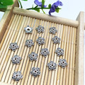 200pcs/lot Silver Plated Flower Metal Bead Caps 6mm Filigree Jewelry Findings Connector Beads Cap Wholesale Parts Jewelrys Diy