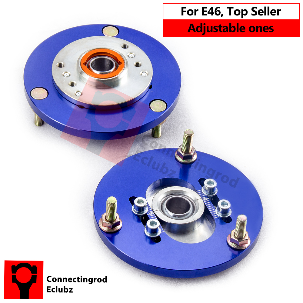 Blue Camber Plate For BMW E46 3 Series  320 323 325 328 M3 98-05 320i 323i 328Ci Front Coilover Top Upper Mount Coilovers Pair for bmw 3 series e36 318 328 323 325 front coilover strut camber plate top mount green drift front domlager top upper mount