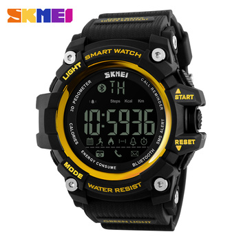 SKMEI 1227 Brand Smart Watches Men Bluetooth Multifunction Fitness Clock 5Bar Waterproof Digital Males Wristwatches reloj hombre