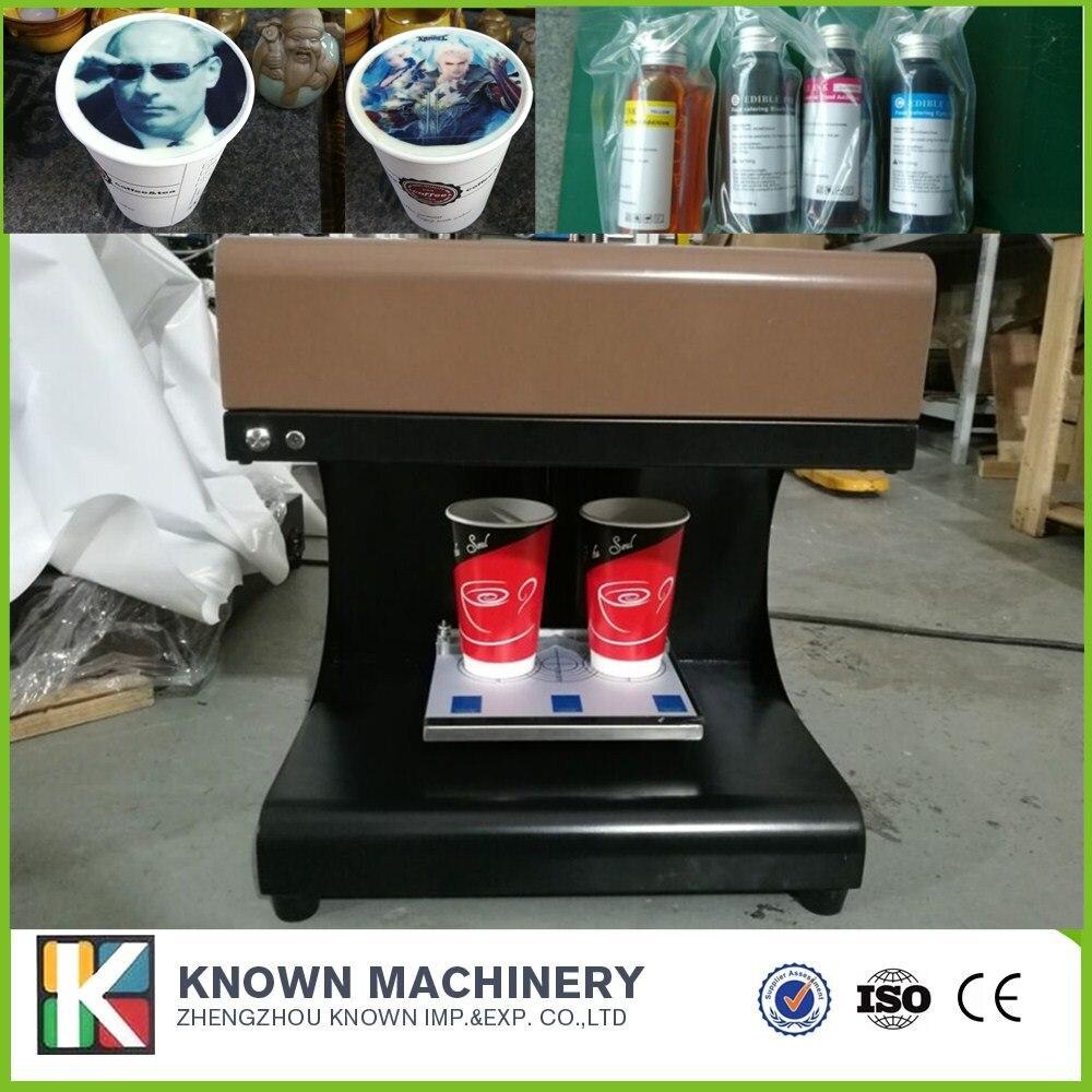 Машина принтера кофе молочной пены 3Д, печатная машина кофе искусства латте