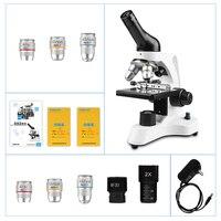 CIWA 1600X Professional Biological Microscope Binocular HD Science Experiment LED Illumination Monocular Binoculars Microscope