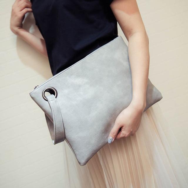 High quality clutch bag 2017 women bag female women evening clutch bags  gray women leather handbags purses envelope day clutch 48290cb331924