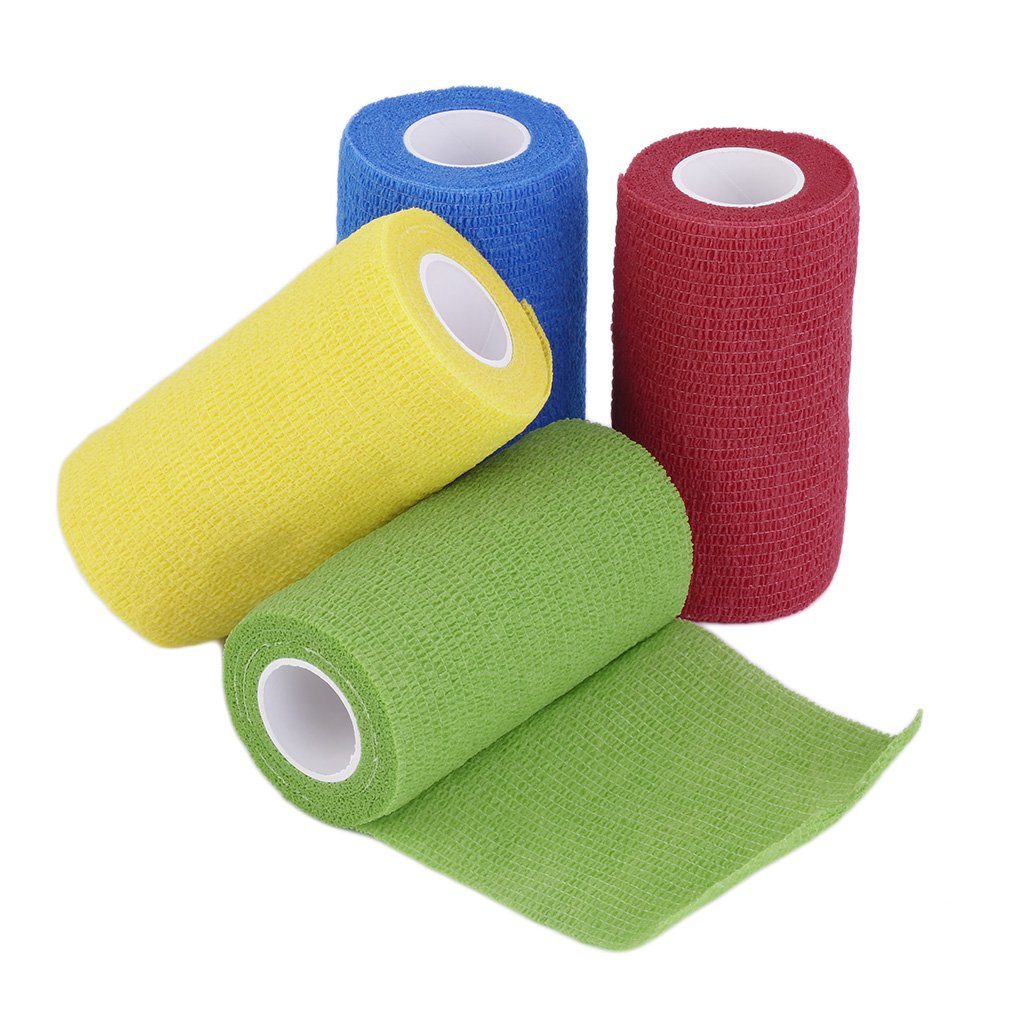 2.5 /5/ 7.5CM Self-Adhering Bandage Wraps Elastic Adhesive First Aid Tape Stretch Tennis Wrist Bandage Brace Wrist Straps Belt