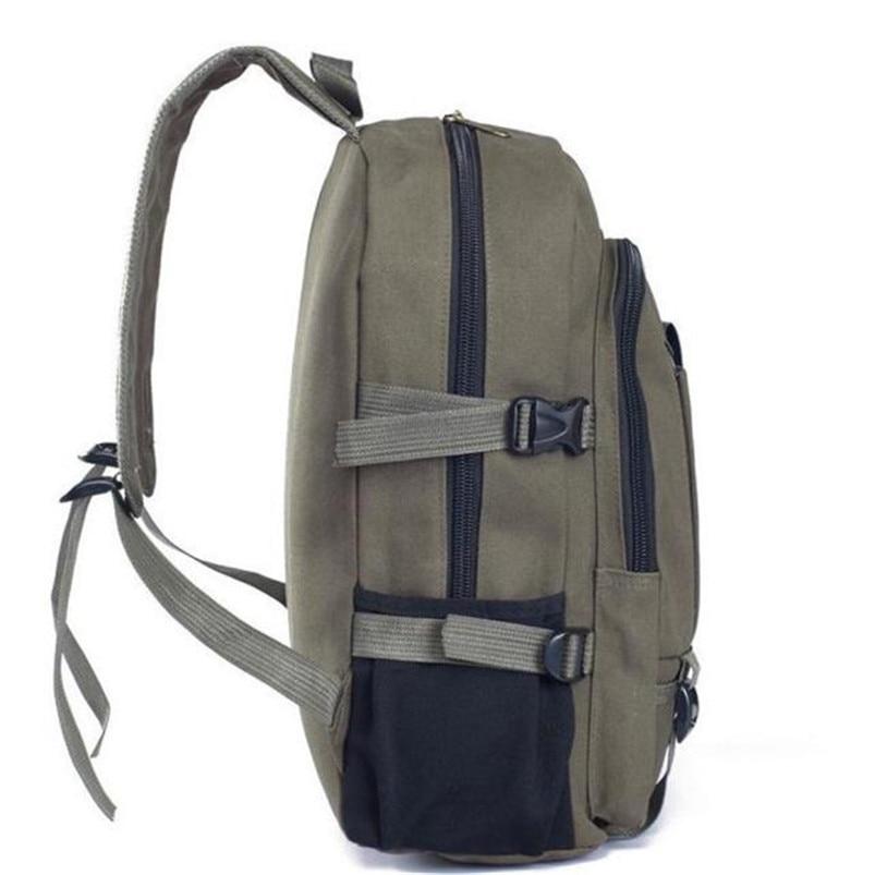 Outdoor Double-Shoulder bag Vintage Travel Canvas Leather Backpack Sport Rucksack Satchel School Hiking cycling Bag #5O08 (6)