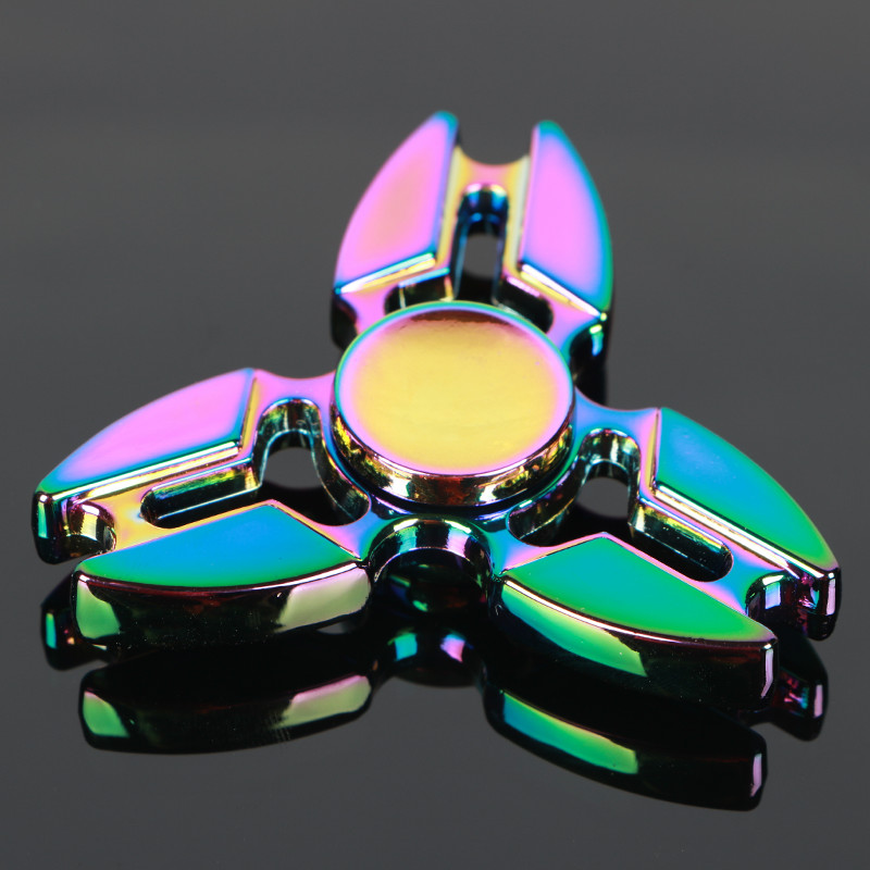 Crab legs Colorful Tri Spinner Fidget Toy EDC Hand Spinner Anti Stress Reliever And ADAD