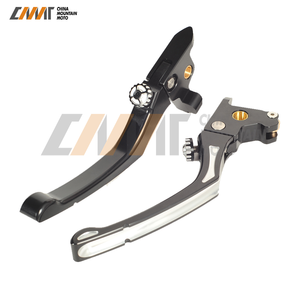 Motorcycle Adjustable Brake Clutch Levers for Harley Touring Sportster CVO Road Street Glide XL883 XL1200 2014