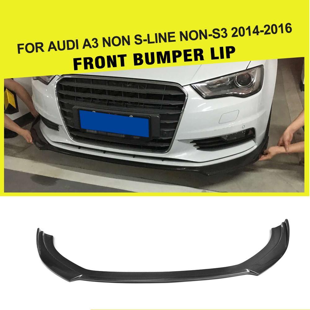 Car-styling Carbon Fiber Front Bumper Front Lip Spoiler for Audi A3 Sedan Standard Bumper Only 2013UP