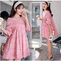 Summer dress Pregnant women Printed Loose Plus size Maternity dresses Hot Pregnancy clothes