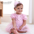 Gooulfi Cotton Newborn Girls Dress Sets In Pink Infant Dresses For Baby Girls First Birthday Outfits Baby Girl Summer Dress Sets