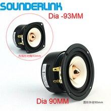 2 PÇS/LOTE Sounderlink 3 Gama Completa Orador freqüência 3 polegadas 90MM unidade com cabeça de alumínio bala Cone de kapton