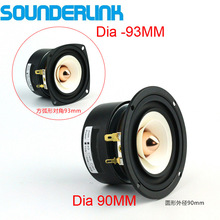 2PCS/LOT Sounderlink 3'' Full Range frequency Speaker 3 inch 90MM unit with aluminum bullet head  kapton Cone