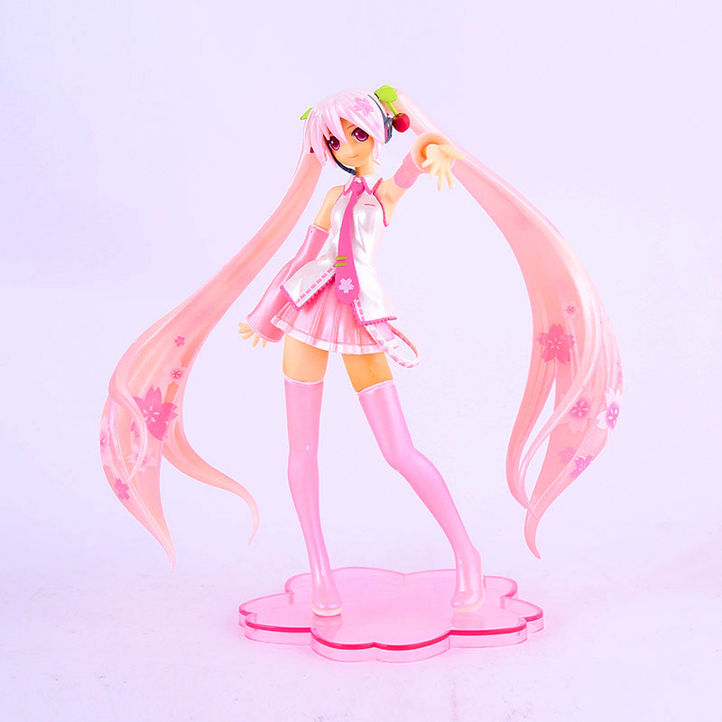 Super Lovely Big Size <font><b>Sakura</b></font> <font><b>Pink</b></font> <font><b>Hatsune</b></font> <font><b>Miku</b></font> Feat.KEl <font><b>Anime</b></font> Figure <font><b>Action</b></font> <font><b>PVC</b></font> <font><b>Action</b></font> & Toy Figures Toys for Girls Gifts