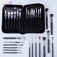 Docolor 29 PCS Makeup Brushes Set Goat Hair Brush Pony Hair Synthetic Hair Foundation Powder Cosmetic Make Up Brush With PU Bag