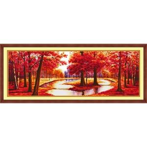 Image 4 - Eternal Love opports Kits de punto de cruz chinos, algodón ecológico estampado, 11ct, adornos navideños para el hogar