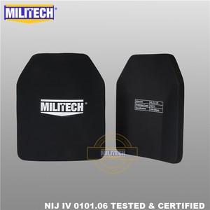 Image 2 - Ballistic Plate Bulletproof Panel NIJ level 4 IV Alumina & PE Stand Alone Two PCS 10x12 Inches Light Weight Body Armor  Militech