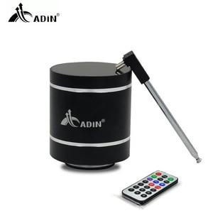 Image 1 - ADIN Mini 15W In Metallo di Vibrazione Altoparlante Senza Fili di Bluetooth HiFi Bass 3D Stereo Surround FM Radio TF Subwoofer Con Telecomando di controllo