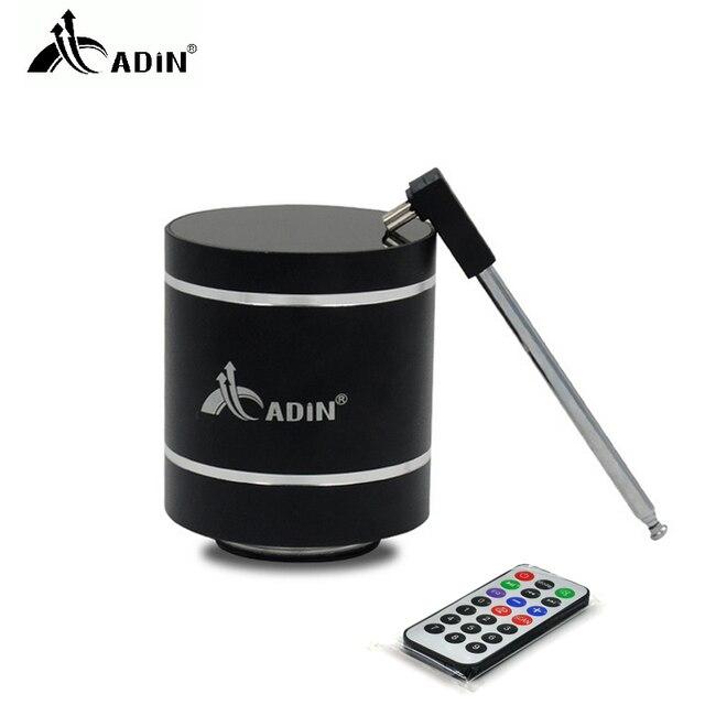 ADIN Mini 15W In Metallo di Vibrazione Altoparlante Senza Fili di Bluetooth HiFi Bass 3D Stereo Surround FM Radio TF Subwoofer Con Telecomando di controllo