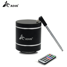 ADIN Mini 15W Metal Vibration Wireless Bluetooth Speaker HiFi Bass 3D Stereo Surround FM Radio TF Subwoofer With Remote Control