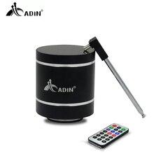ADIN Mini 15W metalowa wibracja bezprzewodowy głośnik Bluetooth HiFi Bass 3D Stereo Surround Radio FM TF Subwoofer z pilotem