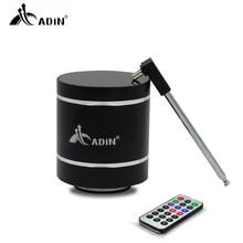 Adin ミニ 15 ワット金属振動ワイヤレス bluetooth スピーカーハイファイ低音 3D ステレオサラウンド fm ラジオ tf とリモート制御