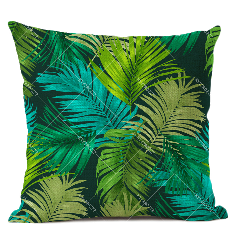 Power Source High Quailty Cushion Covers Plant Pillowcases On The Pillow Green Pillow Cases Cushion Covers Sofa Customable Decorative Pillow Great Varieties