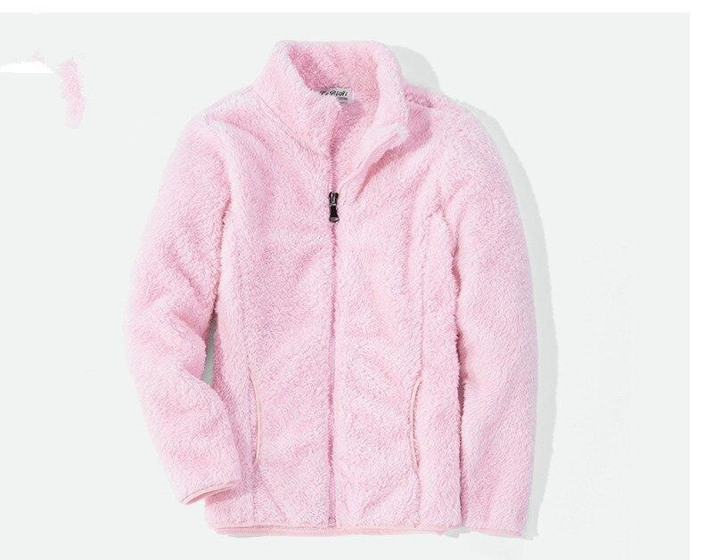 2019 neue Winter Frühling frauen und Kinder Weichen Fleece Jacken Mäntel Fashion Casual Warme Lange Hülse Kinder Jacken XS-XXL
