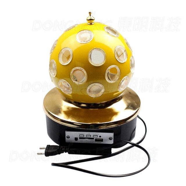 Профессиональная Музыка RGB LED Свет Этапа с функцией MP3 Кристалл Magic Ball Освещение Пульта Дистанционного Эффект лампы Для Партии Диско-Бар