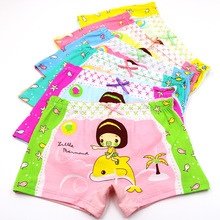 5PCS/Lot 4-6Years Children Cotton Soft Underwear Panties Puberty Girl Cute Cartoon Teenage Briefs Comfortable