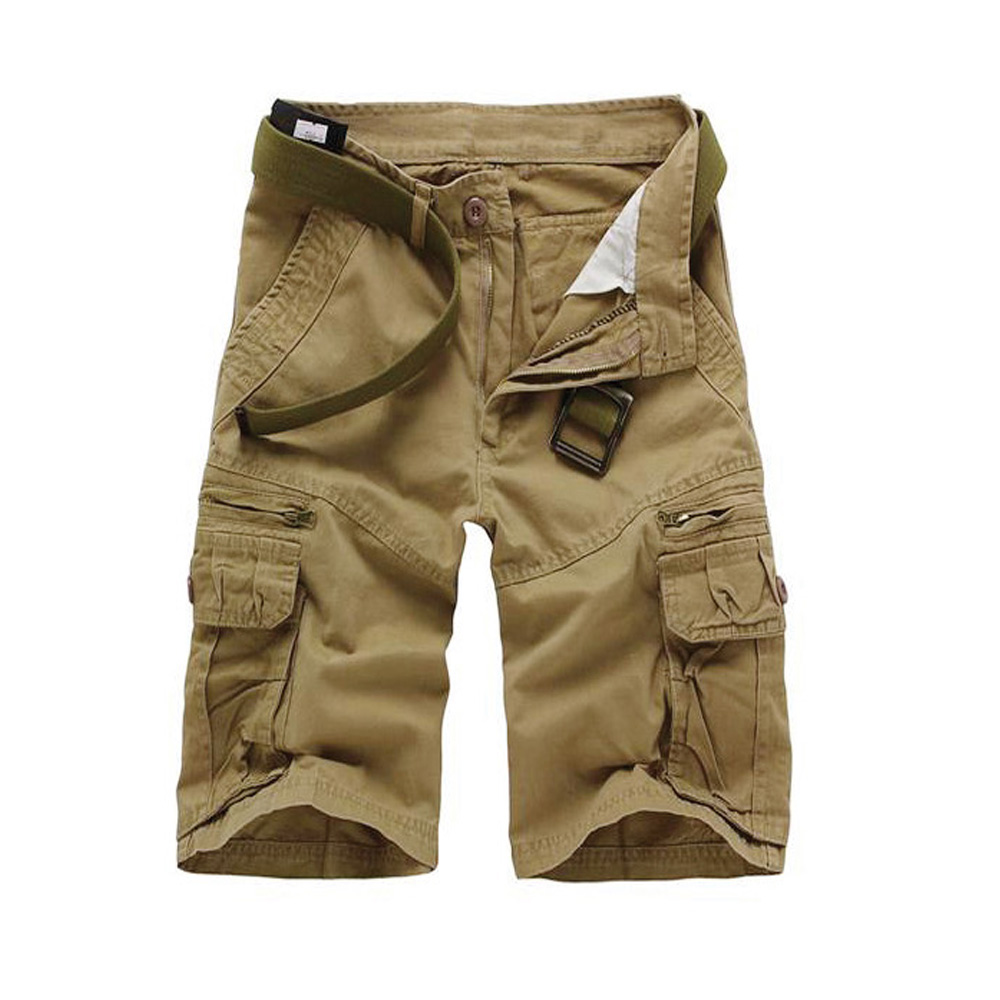 2019 New Summer Multi pocket Camouflage Mens Shorts Casual Loose Camo Knee length Mens Cargo Shorts in Casual Shorts from Men 39 s Clothing