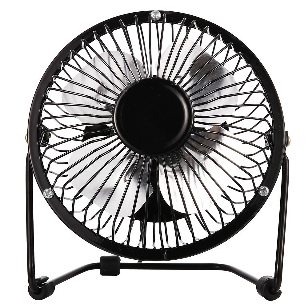 Color : Silver USB Table Desk Personal Fan Portable USB 4 Speeds Powered Desk Mini Fan Cooler Fan Cooling Mute Quiet Great for Desktop Tabletop Office Home and Travel for Home Office Table