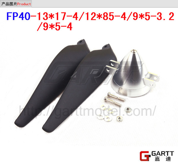 Freeshipping  FP40-12*85-4 Spinner With  Propeller  For RC Plane  Aluminum Material