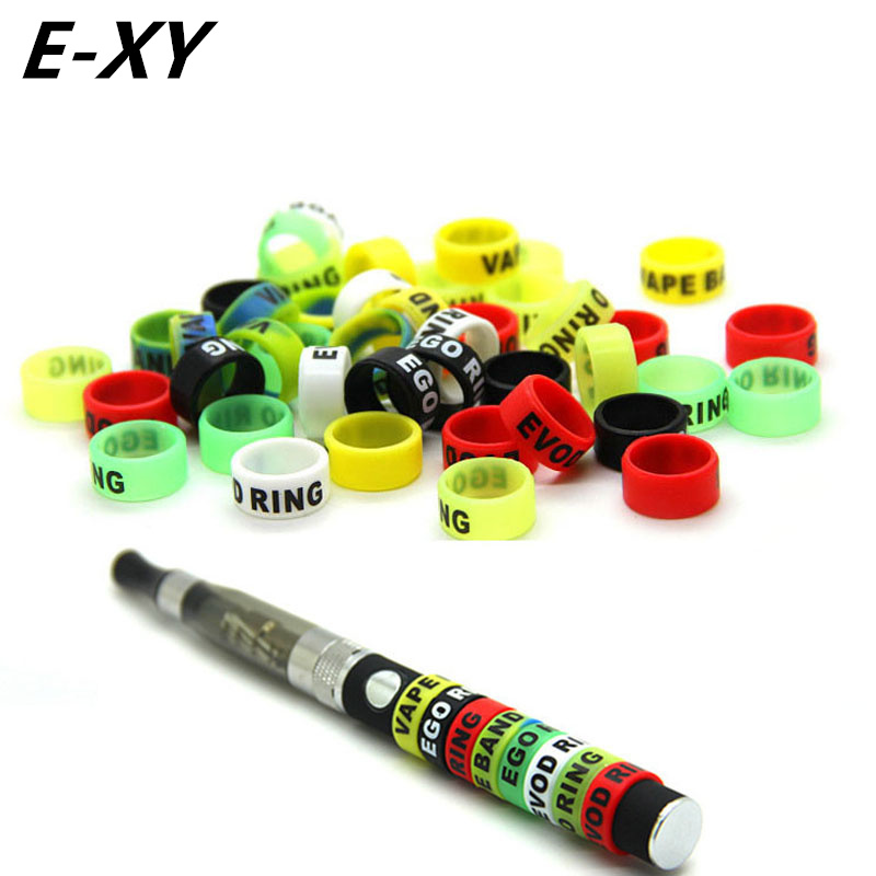 E-XY 30pcs Ecig Silicone Bands 13mm Vape Ring For Ego Series Batteries Decorative And Protection Resistance Vape Bands Vaporizer