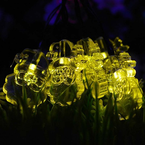 30 leds papai noel forma solar luzes