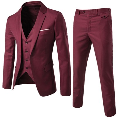 (Jacket + pants + vest) Luxury For Men Wedding Suit Men's Jackets for Women Slim Fit Costumes for Men Costume Business official  4