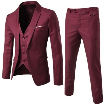 (Jacket + pants + vest) Luxury For Men Wedding Suit Men's Jackets for Women Slim Fit Costumes for Men Costume Business official  4