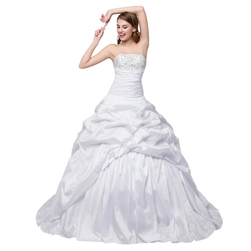 US $89.25 15% OFF In Stock Boat Neck wedding dress plus size Embroidered  Ball gown wedding gown Beaded Lace Up country western wedding dresses-in ...