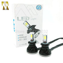 1 Set H7 80W 8000LM 4 COB LED Headlight h7 40W 4000LM H1 H3 H7 H8 H9 H11 9005 9006 hb3 hb4 880 881 Car LED Headlight Bulb