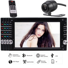 EinCar 2 DIN Video In-Dash Unit Car Stereo DVD Player Bluetooth HD Radio automotive Capacitive Touch Screen Rear Camera Included