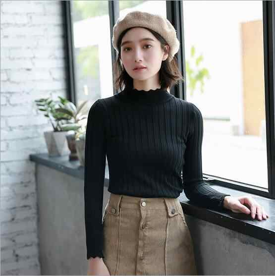 Fdfklak Black/White Sweater Hot Selling Spring Autumn Long Sleeve Slim Women Sweaters And Pullovers Christmas Sweater Q619