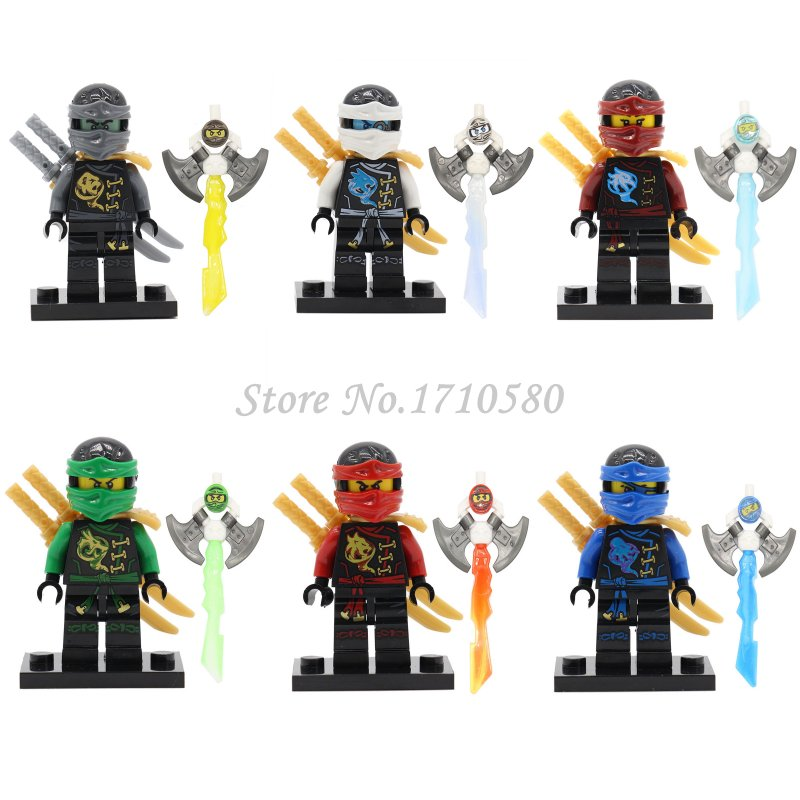 Single Sale Ninjagoinglys Figures Block Cole Lloyd Kai Zane KOZU Jay Wu Krux Yang Gereral Pythor