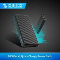ORICO 10000 mah Power Bank Quick Charge 3 0 Externe Batterie BC1.2 Drei Ausgang 18W Max Ladegerät Adapter für Mobile telefon Tablet-in Powerbank aus Handys & Telekommunikation bei