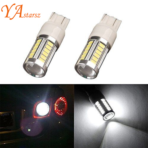 Car styling 2pcs W21/5W 7443 T20 33 LED 5630 5730 SMD car rear light stop bulbs auto brake lights back lamps Turn signals