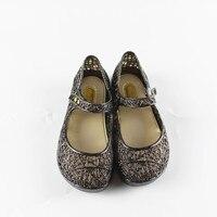 Mini Melissa Girls Crystal Sandals Summer 2017 New Children Mesh Holes Girls Breathable Jelly Shoes Girls