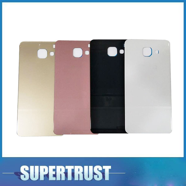 For Samusung Galaxy A5 2016 A510 <font><b>A510F</b></font> Battery Cover Housing Cases Back Door Rear White Black Gold Pink C image